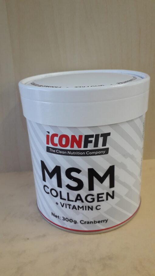MSM collageen +C vitamiin 300g jõhvikamaitseline